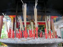 Joss stick and smoke Royalty Free Stock Images