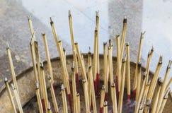 Joss stick. On the spittoon Stock Photo