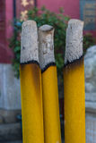 Joss stick. S are burning at the temple Royalty Free Stock Image