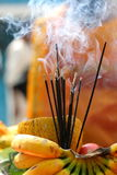 Joss Sticks. Burnt during Thaipusam celebration Royalty Free Stock Photos