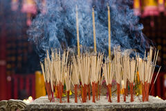 Joss sticks. Burn at an altar in temple Royalty Free Stock Image