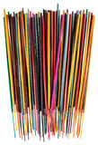 Colorful group of incense sticks Stock Image