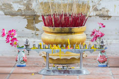 Joss sticks burn Stock Photos