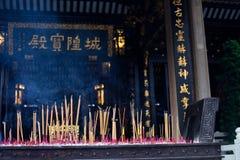 Joss sticks burning Royalty Free Stock Photos