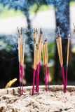 Joss sticks burning Stock Photos
