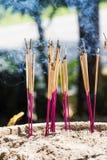 Joss sticks burning Stock Photos