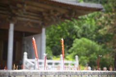 Joss sticks and candles Royalty Free Stock Image