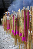 Joss sticks and candles Royalty Free Stock Images