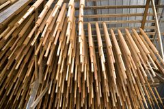 Joss sticks drying in factory Royalty Free Stock Photography