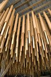 Joss sticks drying in factory Royalty Free Stock Image