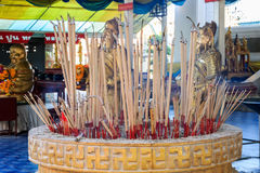 Joss sticks with a lot of smoke, Burning incense Stock Photography