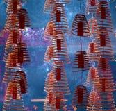 Joss Sticks at Sze Ya Chinese Temple Royalty Free Stock Image