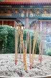 Joss sticks. At Wat Leng-Noei-Yi, Thailand Stock Photos