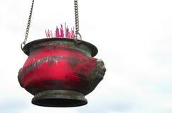 Joss stokcontainer voor gebed royalty-vrije stock fotografie