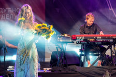 Joss Stone Live bei Nisville Jazz Festival, am 14. August 2016 Lizenzfreies Stockfoto