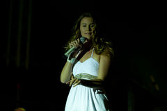 Joss stone on the stage. Joss stonne in slovenia on a big concert with many slovenian groups Royalty Free Stock Photography