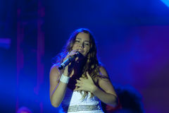 Joss stone on the stage. Joss stonne in slovenia on a big concert with many slovenian groups Stock Photography