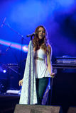 Joss stone on the stage. Joss stonne in slovenia on a big concert with many slovenian groups Stock Photos