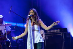 Joss stone on the stage. Joss stonne in slovenia on a big concert with many slovenian groups Stock Images