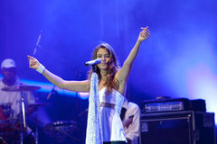 Joss stone on the stage. Joss stonne in slovenia on a big concert with many slovenian groups Royalty Free Stock Photos