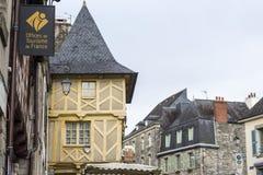 Josselin, Bretagne, Frankreich lizenzfreies stockbild