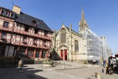 Josselin, Brittany, França fotografia de stock