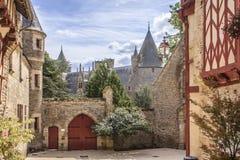 Josselin Castle, Morbihan, france fotos de stock