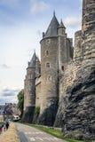 Josselin Castle, Morbihan, france imagens de stock royalty free