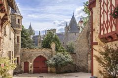 Josselin Castle, Morbihan, Francia fotografie stock