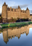 josselin de château photo stock
