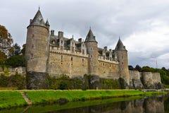 Josselin-Schloss in Morbihan Bretagne Frankreich lizenzfreie stockfotos