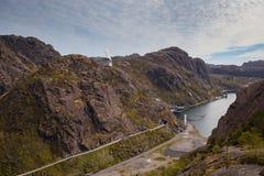 Jossingfjord, plaats van het Altmark-incident royalty-vrije stock fotografie