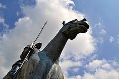 Jost Moravsky-beeldhouwwerk in Brno, Zuid-Moravië, Tsjechische republiek Royalty-vrije Stock Afbeelding