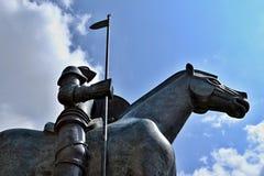 Jost Moravsky-beeldhouwwerk in Brno, Zuid-Moravië, Tsjechische republiek Stock Foto's