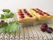 Jostaberry tartlet cake Stock Photos