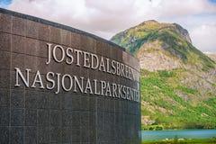 jostedalsbreen park narodowy Zdjęcia Royalty Free