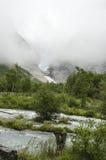 Jostedalsbreen park narodowy Norwegia, Briksdal lodowiec - Zdjęcia Stock
