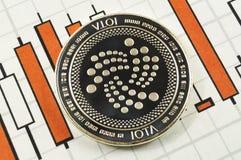 Jota is een moderne manier van uitwisseling en deze crypto munt stock afbeeldingen