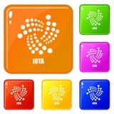 Jotasymboler ställde in vektorfärg royaltyfri illustrationer