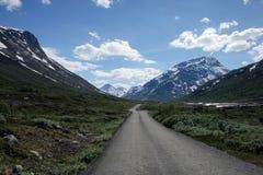 jotunheimen bergvägen Royaltyfria Bilder