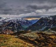 Jotunheimen Nationaal Park, bewolkte dag Stock Foto's