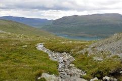 Jotunhiemen. Hiking in Jotunheimen in Norway Stock Photography