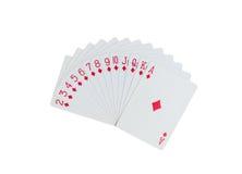 Jouant des cartes d'isolement Photos libres de droits
