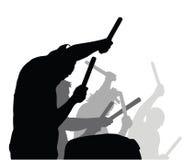 Jouant l'action de tambours - vecteur photos libres de droits