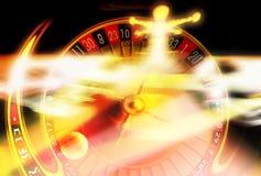 Jouant la roulette trop ? Image libre de droits