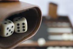 Jouant la série de jeux - matrices de backgammon de roulement - aucun 11 Images libres de droits