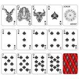 Jouant le zodiaque de ` de série de cartes signe le ` images stock