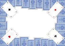 Jouant les cartes qui s'appellent Piqued photo stock