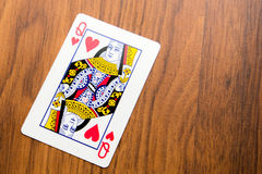 Jouant les cartes - reine des coeurs Image libre de droits