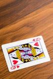 Jouant les cartes - reine des coeurs Photographie stock libre de droits